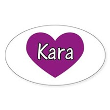 Kara Oval Decal