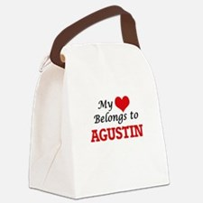 My heart belongs to Agustin Canvas Lunch Bag