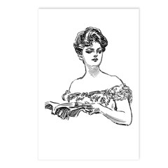 Reading Woman Postcards (Package of 8)