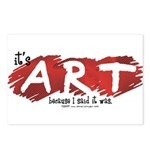 It's Art Because Postcards (Package of 8)