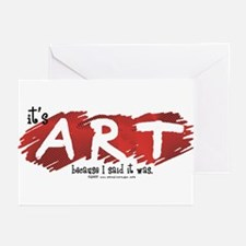 It's Art Because Greeting Cards (Pk of 10)