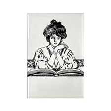 Reading Woman Rectangle Magnet