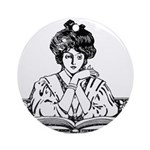 Reading Woman Ornament (Round)