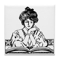 Reading Woman Tile Coaster