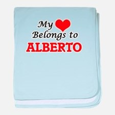 My heart belongs to Alberto baby blanket