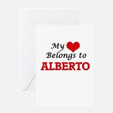 My heart belongs to Alberto Greeting Cards
