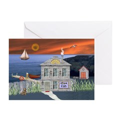 The Fisherman's Shack Greeting Cards (Pk of 10)