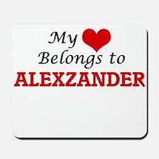My heart belongs to Alexzander Mousepad
