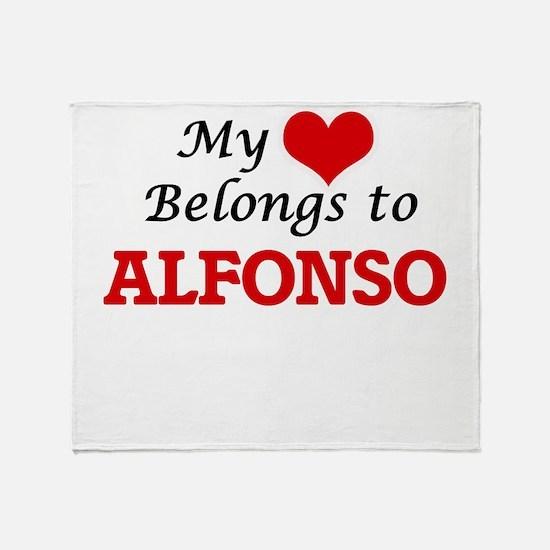 My heart belongs to Alfonso Throw Blanket