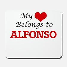 My heart belongs to Alfonso Mousepad