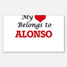 My heart belongs to Alonso Decal