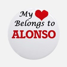 My heart belongs to Alonso Round Ornament