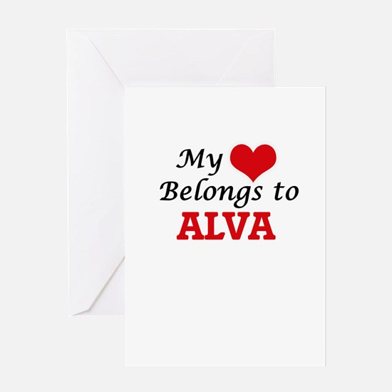 My heart belongs to Alva Greeting Cards