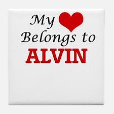 My heart belongs to Alvin Tile Coaster
