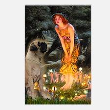 Fairies / Bullmastiff Postcards (Package of 8)