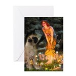 Fairies / Bullmastiff Greeting Card