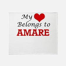 My heart belongs to Amare Throw Blanket