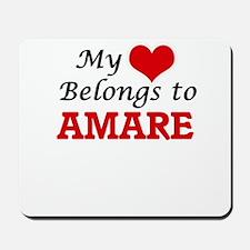 My heart belongs to Amare Mousepad