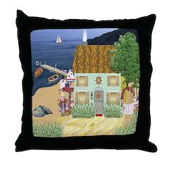 Lakeside Cottage Throw Pillow