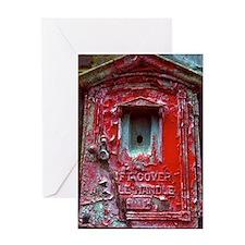 Fire Alarm Box Greeting Card