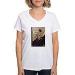 Whistler's / Bullmastiff Women's V-Neck T-Shirt