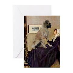 Whistler's / Bullmastiff Greeting Cards (Pk of 10)