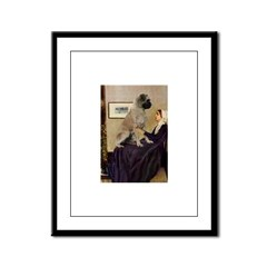Whistler's / Bullmastiff Framed Panel Print