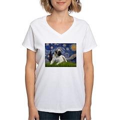 Starry / Bullmastiff Women's V-Neck T-Shirt