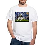Starry / Bullmastiff White T-Shirt
