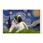 Starry / Bullmastiff Sticker (Rectangle)