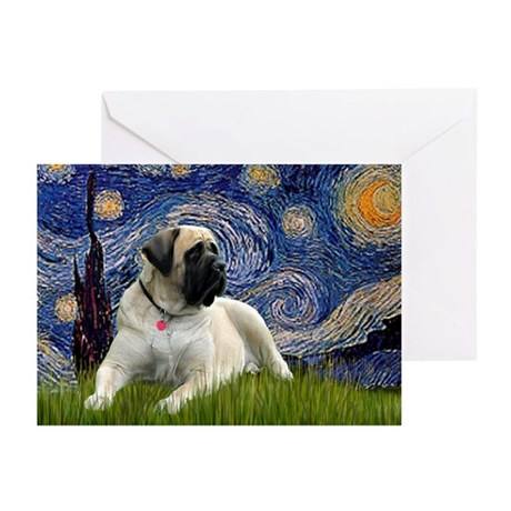 Starry / Bullmastiff Greeting Cards (Pk of 20)