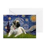 Starry / Bullmastiff Greeting Cards (Pk of 10)