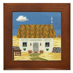 Island Cottage Framed Tile