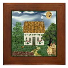 Storm Cottage Version 2 Framed Tile