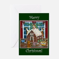 Merry Christmas Gingerbread C Greeting Card