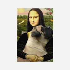 Mona /Bullmastiff Rectangle Magnet