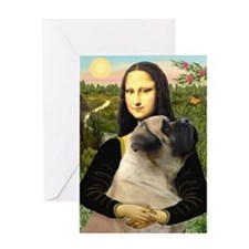Mona /Bullmastiff Greeting Card