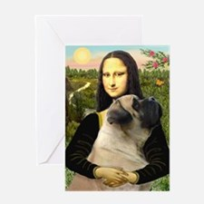 Mona /Bullmastiff Greeting Card