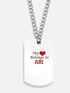 My heart belongs to Ari Dog Tags