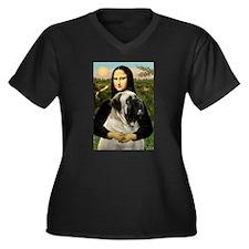 Mona /Bullmastiff Women's Plus Size V-Neck Dark T-