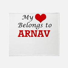 My heart belongs to Arnav Throw Blanket