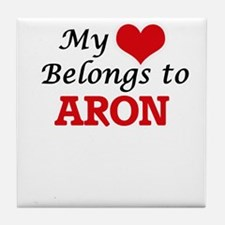 My heart belongs to Aron Tile Coaster