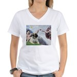 Creation / Bullmastiff Women's V-Neck T-Shirt
