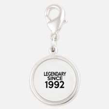 Legendary Since 1992 Silver Round Charm