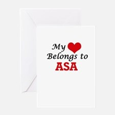 My heart belongs to Asa Greeting Cards