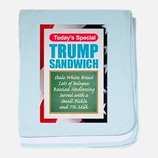 Trump Sandwich baby blanket
