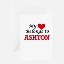 My heart belongs to Ashton Greeting Cards