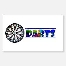 Darts Rectangle Decal