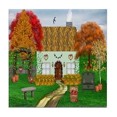 Autumn Cottage Tile