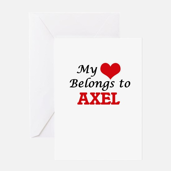 My heart belongs to Axel Greeting Cards